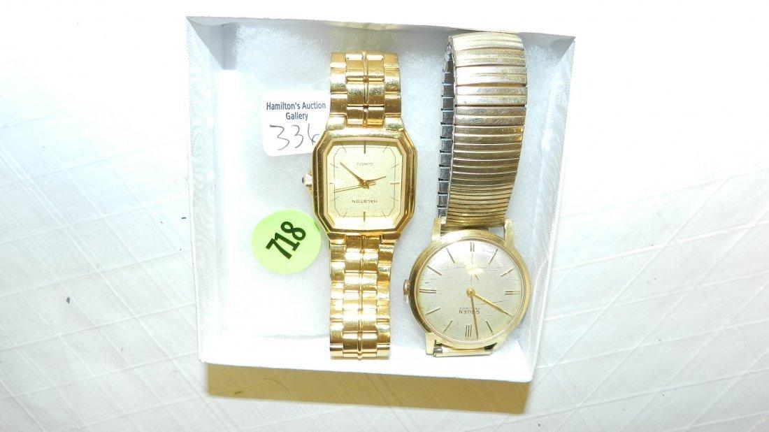 718: 2 piece vintage men's wrist watches