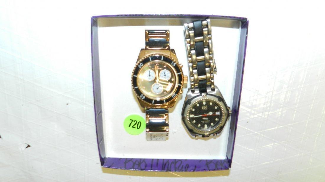720: 2 piece men's estate wrist watches