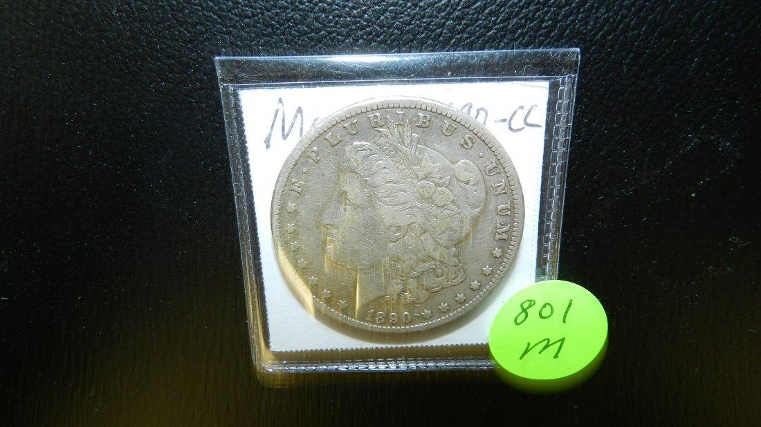 801M: 1890-CC Carson City Morgan silver dollar