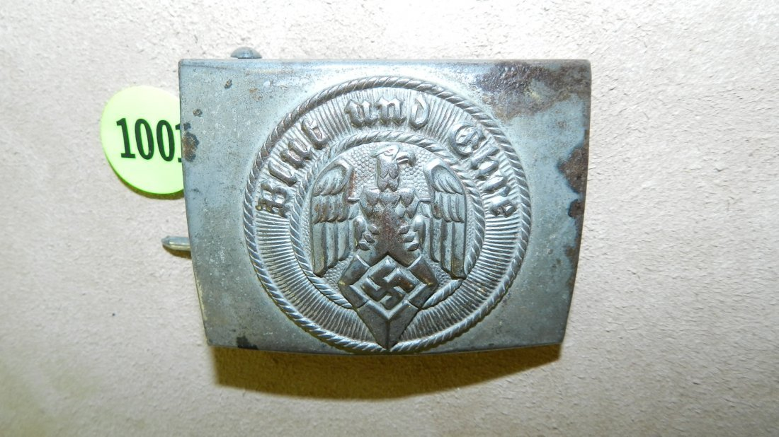 1001: WWII Nazi German Hitler youth belt buckle