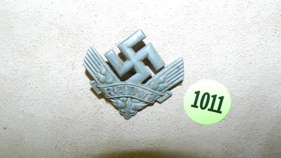 1011: WWII Nazi German cap womens labor corp (missing c