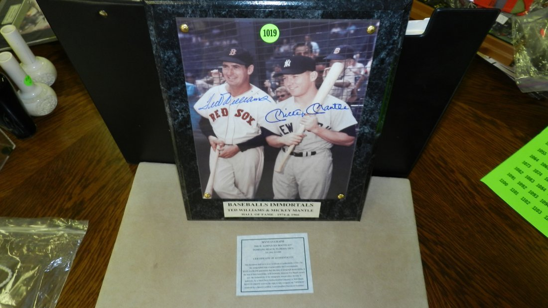 1019: original autograph by baseball's great  Ted Willi