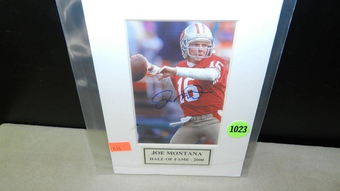 1023: original autograph by Football's great  Joe Monta