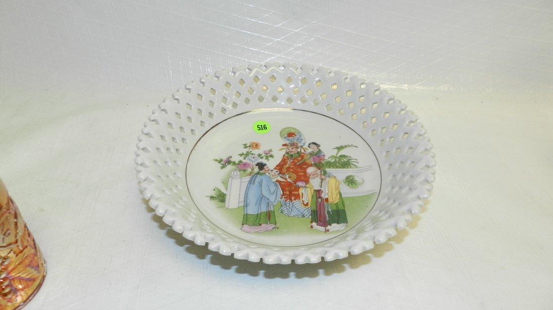 516: Asian porcelain plate