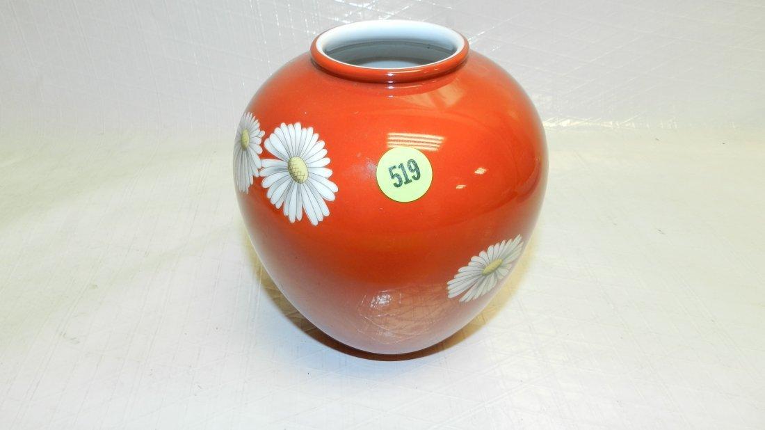519: Asian porcelain floral vase