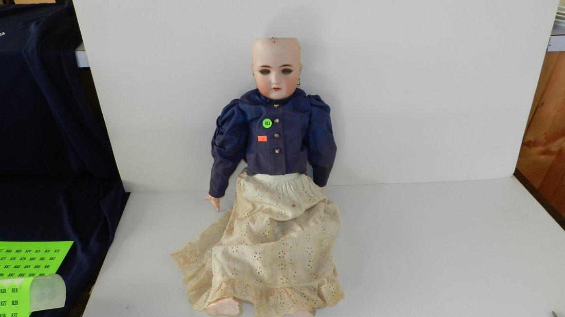813: antique bisque head doll, as seen