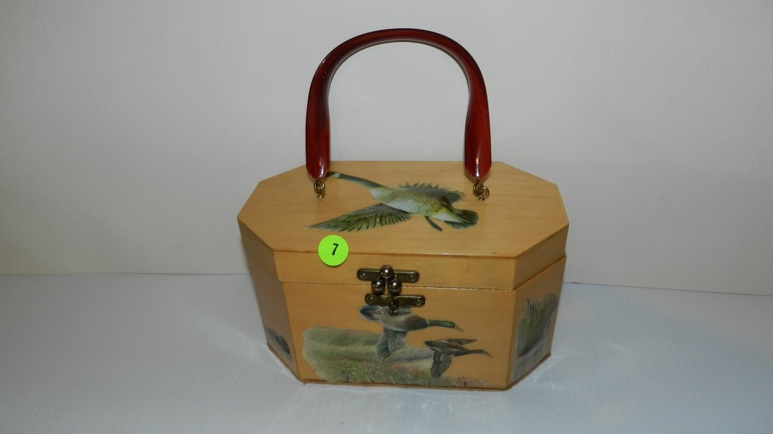 7: nice signed mid century Annie Laurie purse with gees