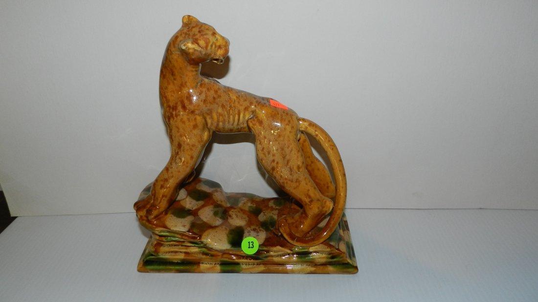 13: mid century modern cougar on rocks by Royal Haeger