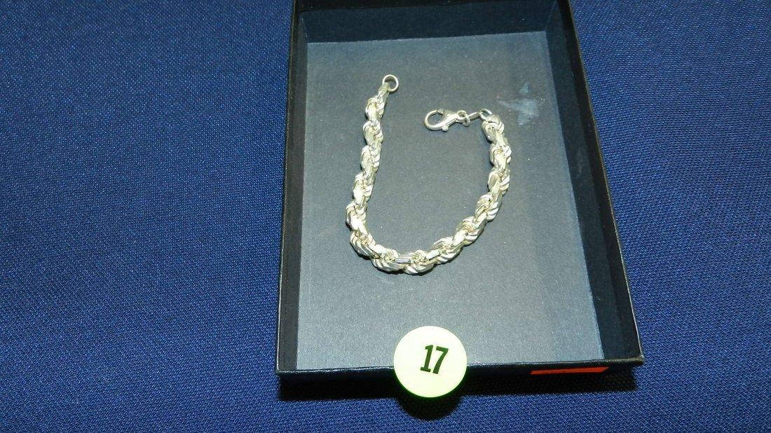 17: mid century sterling silver bracelet