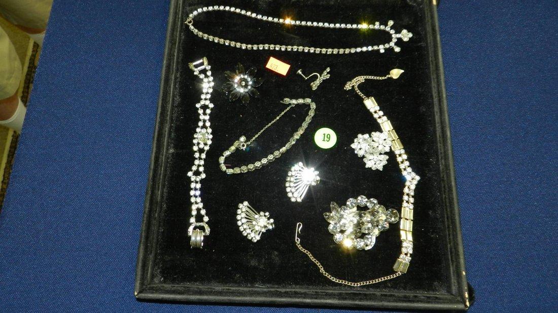 19: mid century rhinestone jewelry (no display board)