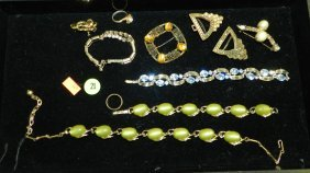 Mid Century Rhinestone & Other Jewelry (no Display