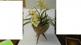Mid Century Hawaiian Style Fiberglass Planter