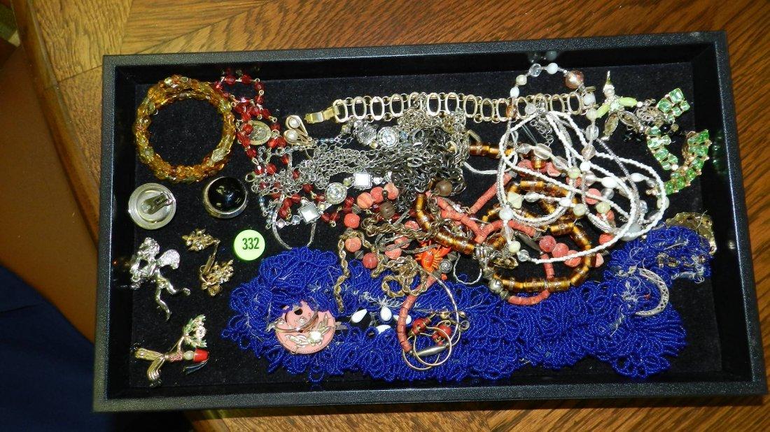 332: tray of mid century estate jewelry