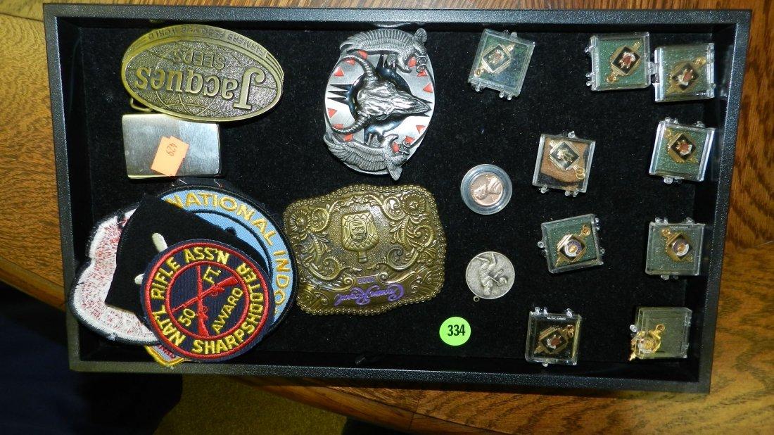 334: tray of mid century estate jewelry