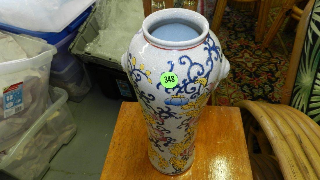 348: Asian porcelain vase