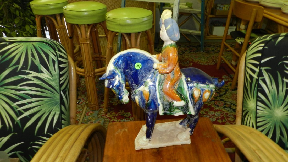 352: Asian horse and rider staute
