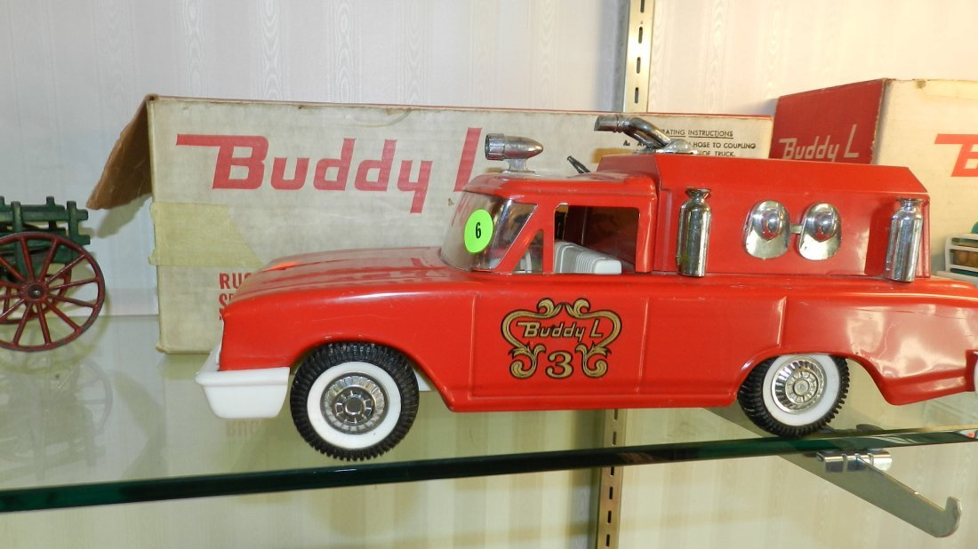 6: nice near mint Buddy L toy fire truck in original bo
