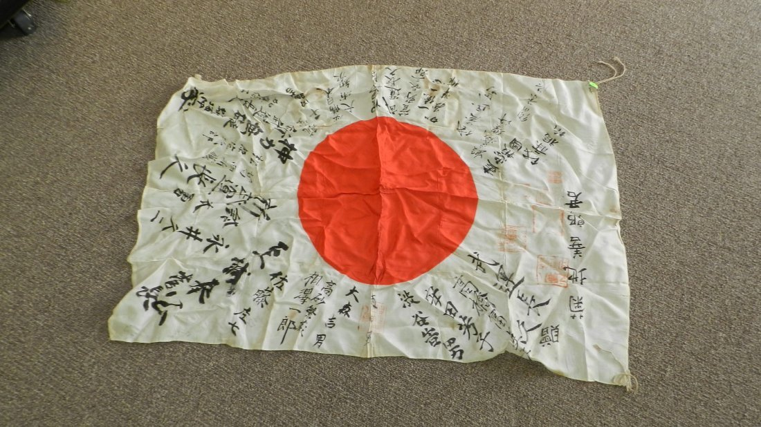 11: wonder WWII Japanese flag with writing and stamp