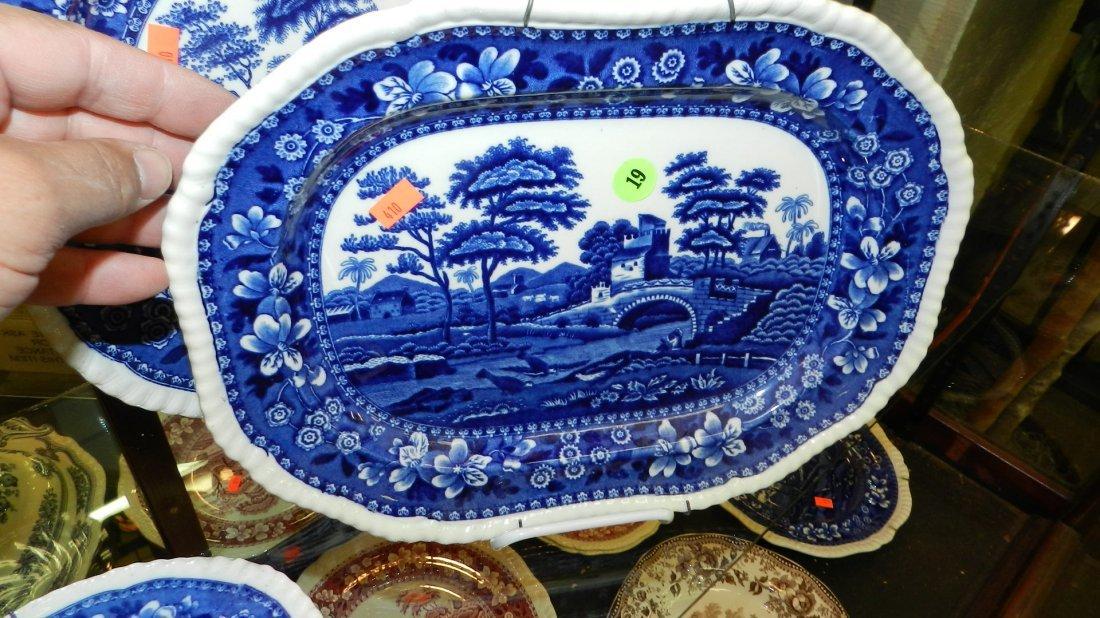 19: original blue and white Spodes Tower platter
