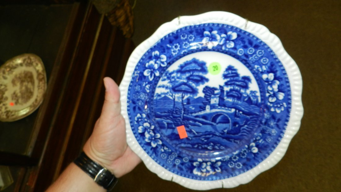 20: original blue and white Spodes Tower plate