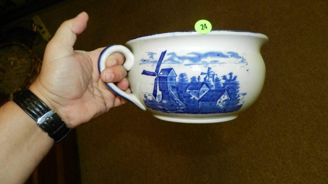24: Blue & White Empire Ware chamber pot