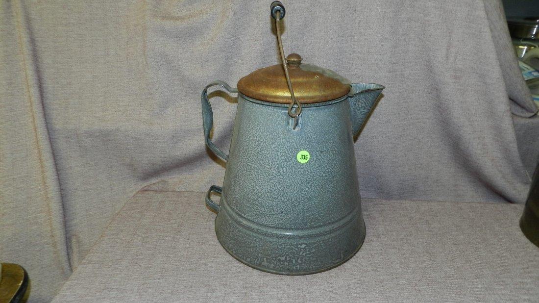 335: vintage graniteware coffee pot
