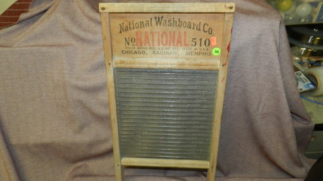 346: glass advertising wash board