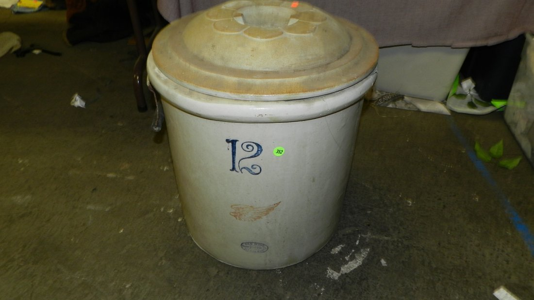 352: 12 gallon Red Wing crock as seen SSR