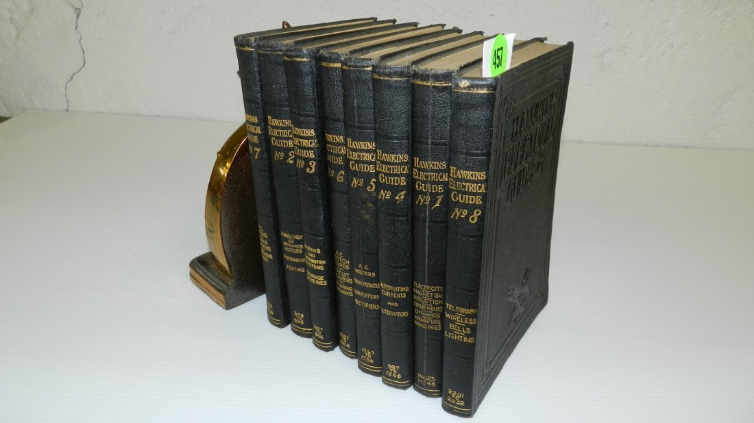 457: Set Hawkins Electrical Guide books (1-8)