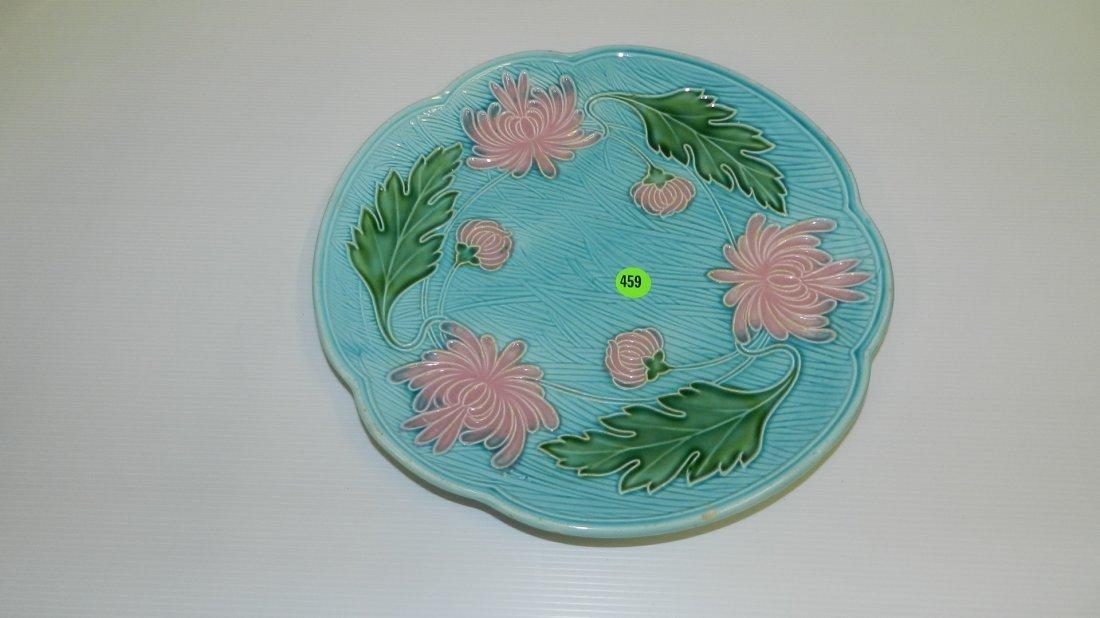 459: Majalica floral plate
