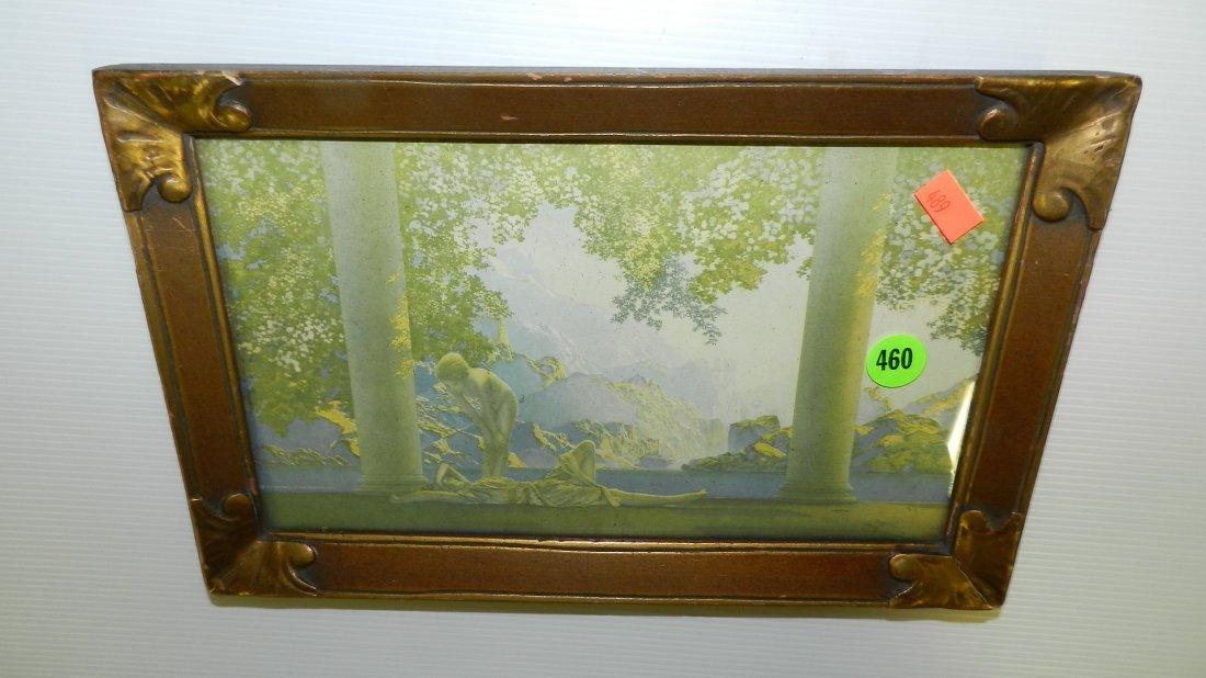 460: Maxfield Parrish print in frame