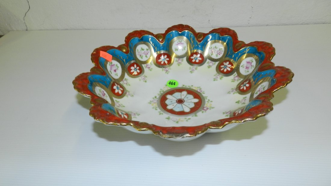 464: Hand Painted porcelain bowl