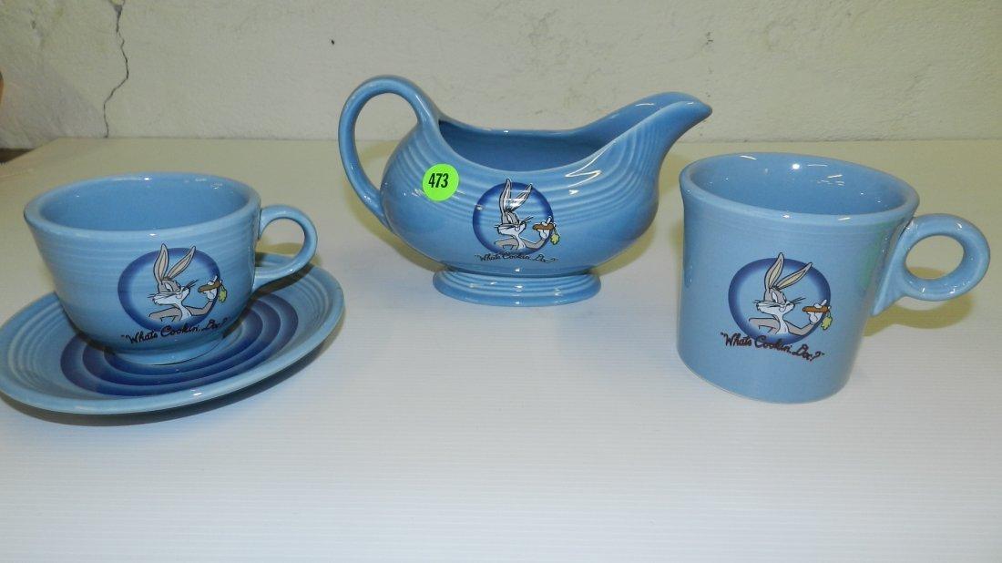 473: Fiesta-ware four piece Bugs Bunny items