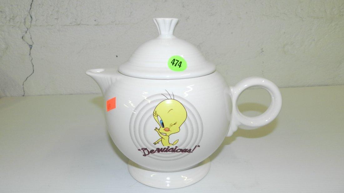 474: Fiesta-ware Tweety teapot