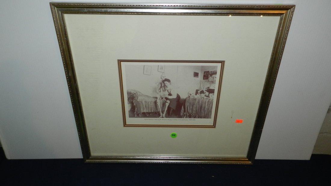 550: vintage framed photo / priint of 1899 med student