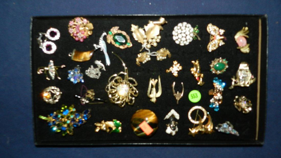 553: tray of estate jewelry, no tray