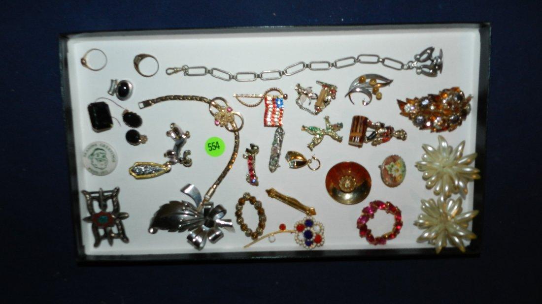 554: tray of estate jewelry no tray