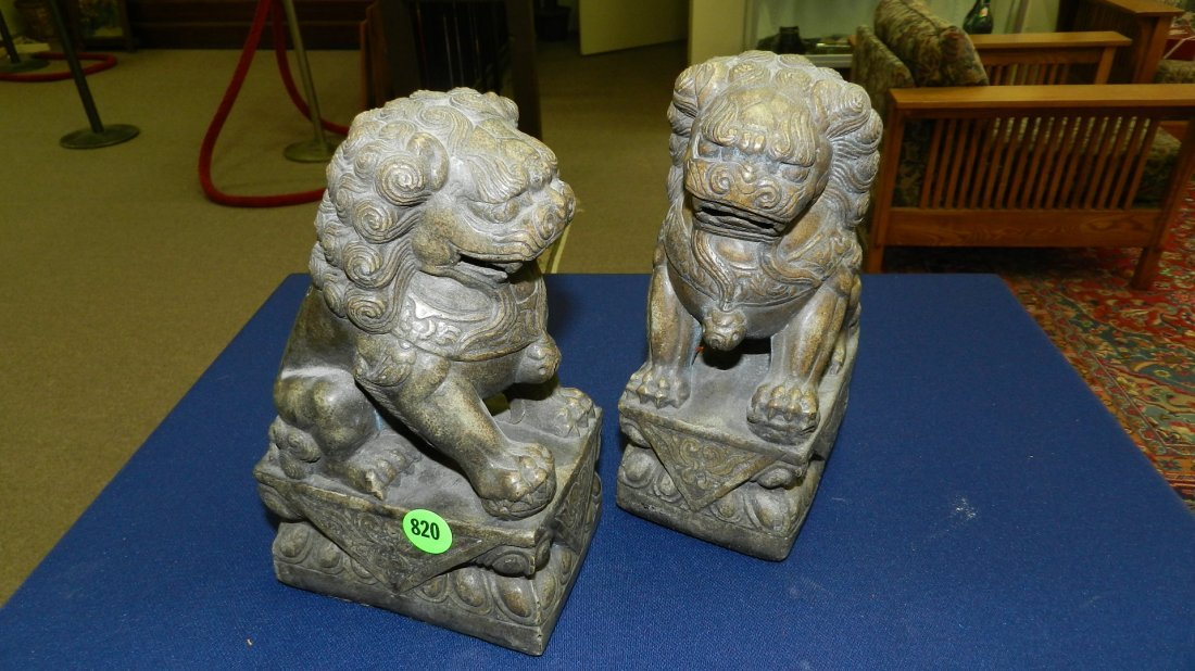 820: 2 piece Asian foo lions