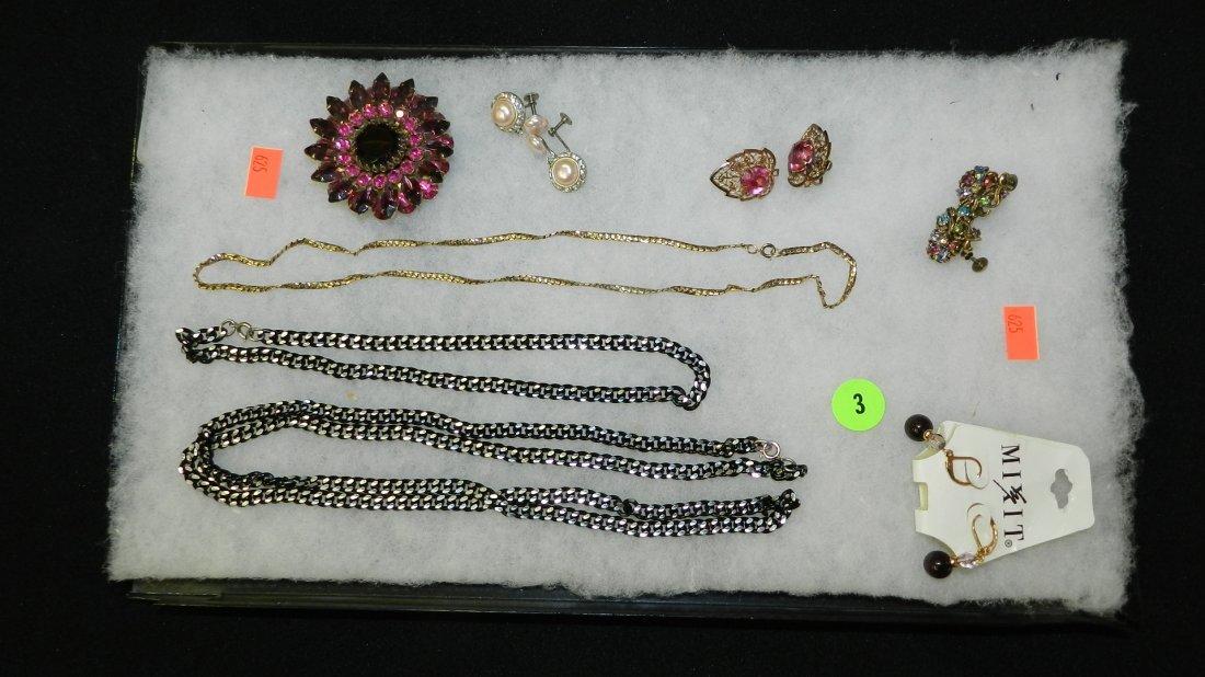 3: nice tray of estate jewelry (no tray)