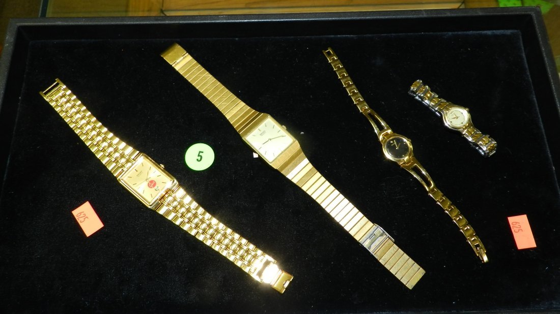 5: nice tray of estate jewelry watches (no tray)