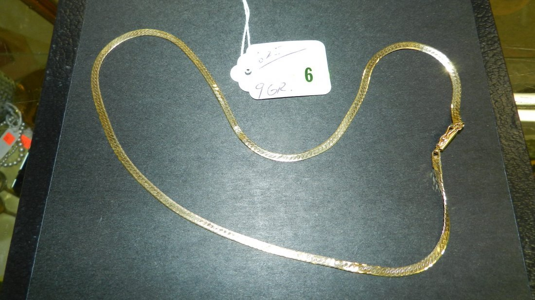 6: solid (stamped) 14KT gold necklace,
