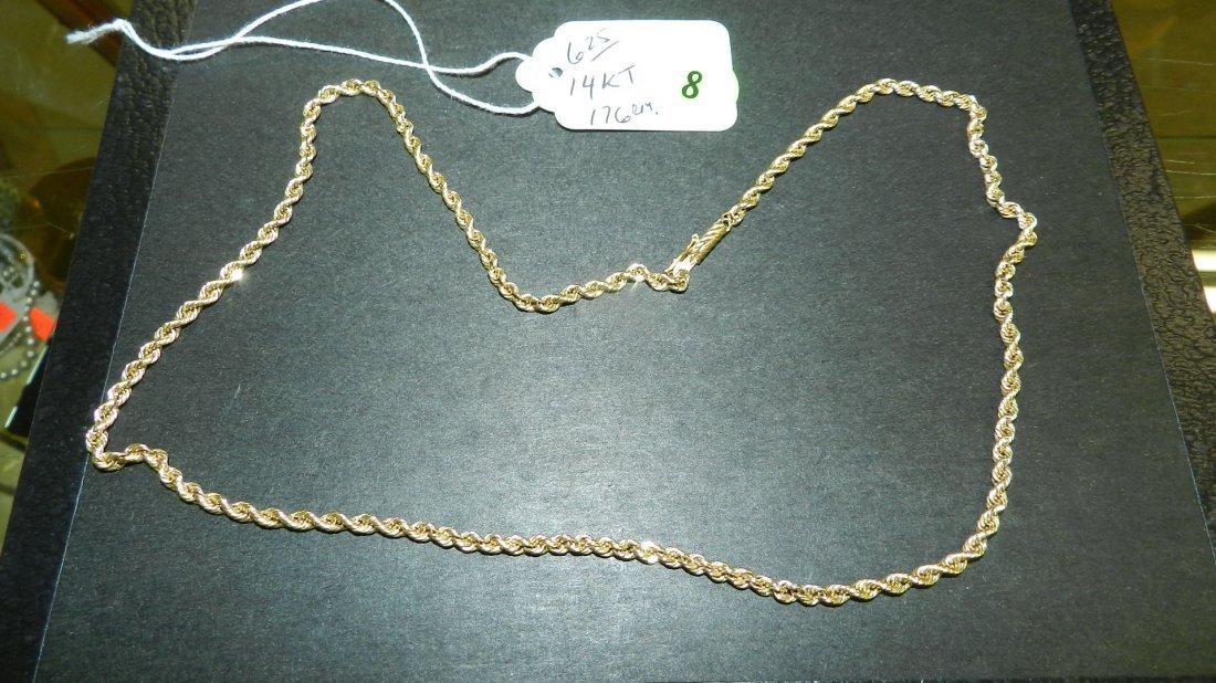 8: solid (stamped) 14KT gold necklace,