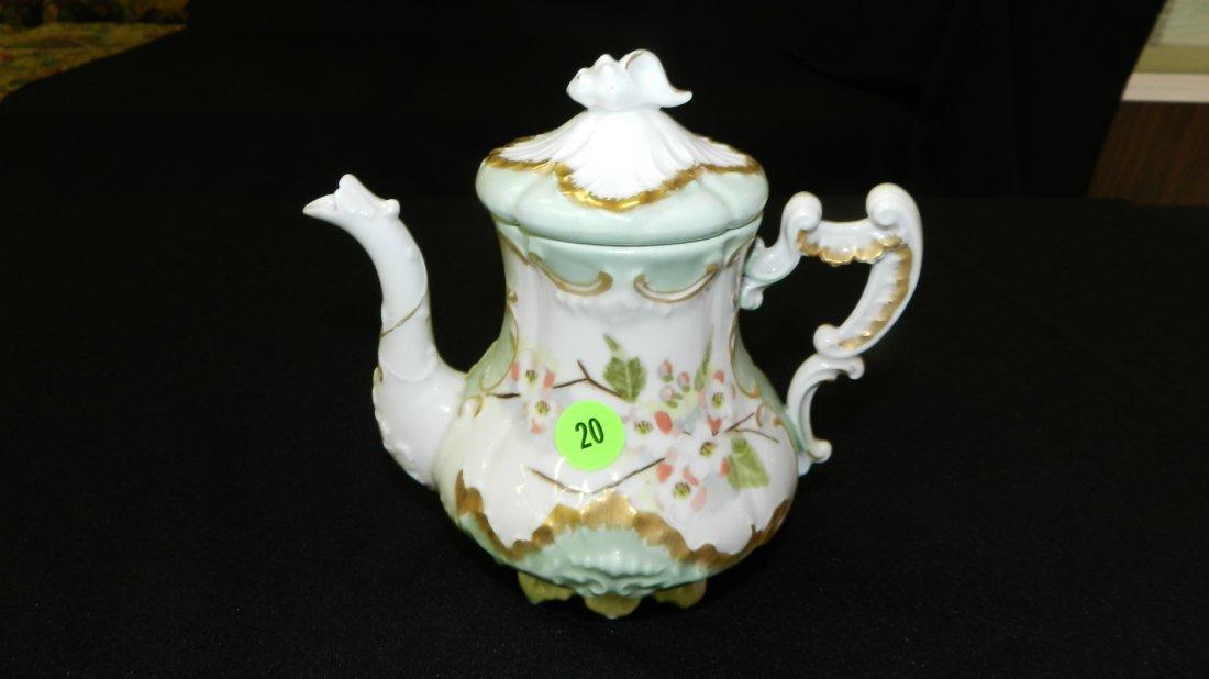20: vintage porcelain Limoges tea pot