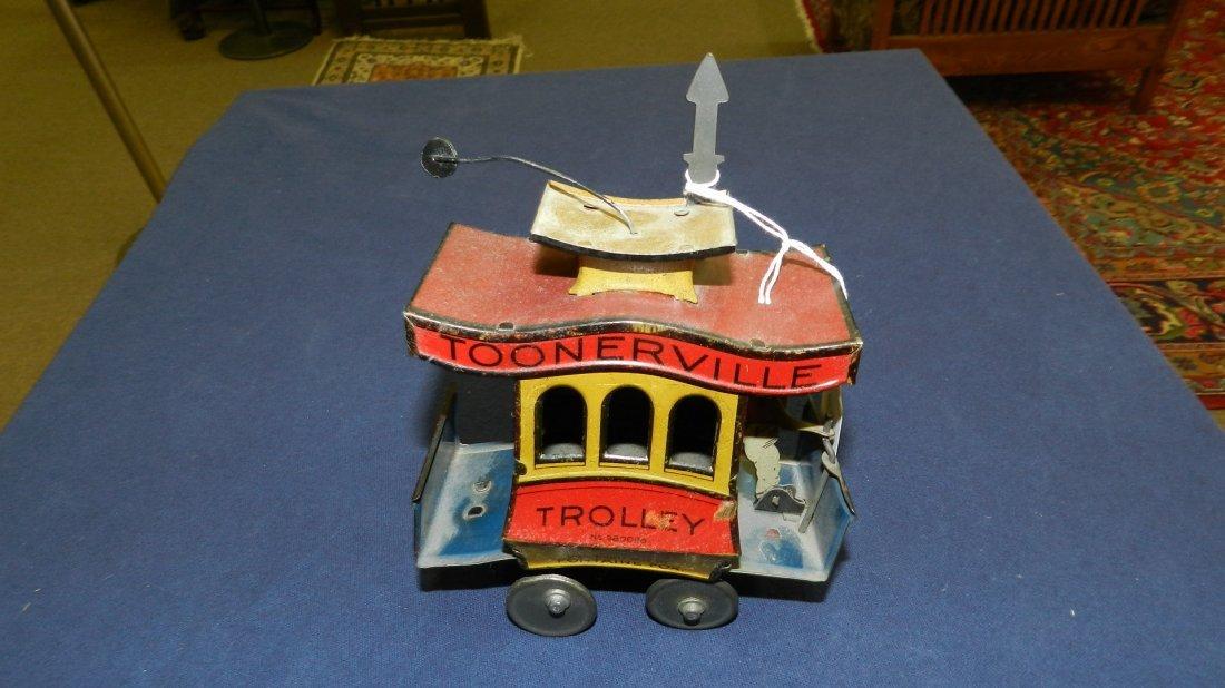 76: rare Lehmann tin toy wind up Toonerville Trollery t