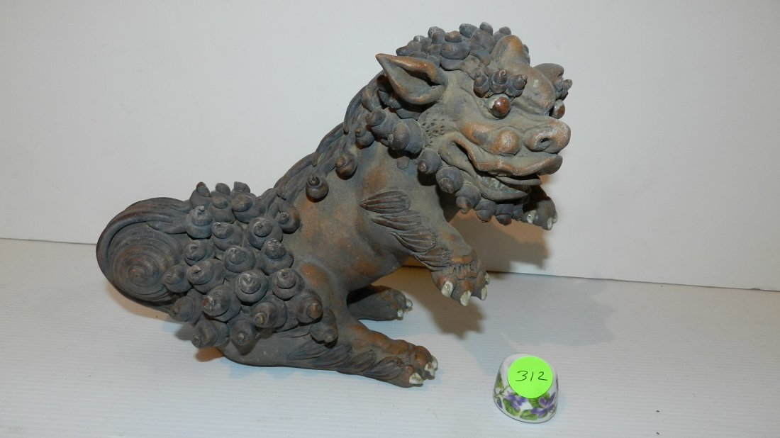 2) wonderful Chinese antique clay made Imperial Fu (Foo