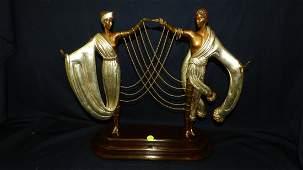 great Erte bronze of couple dancing, 338 / 375 Fine Art