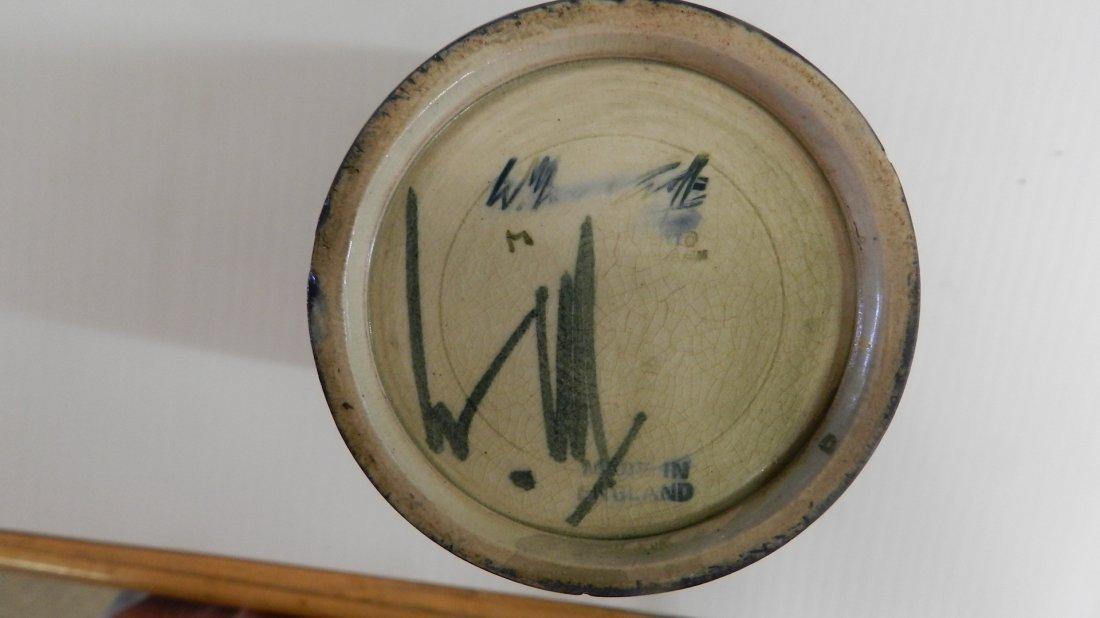 rare antique William Moorcroft pottery hand painted flo - 7