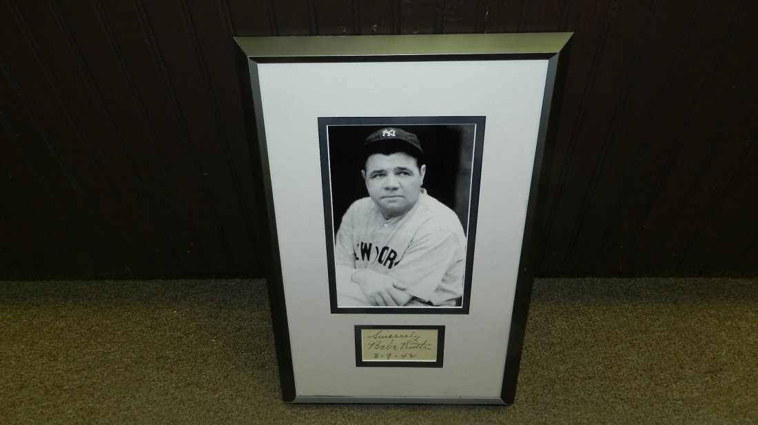 authentic autographed baseballs great Babe Ruth comes w