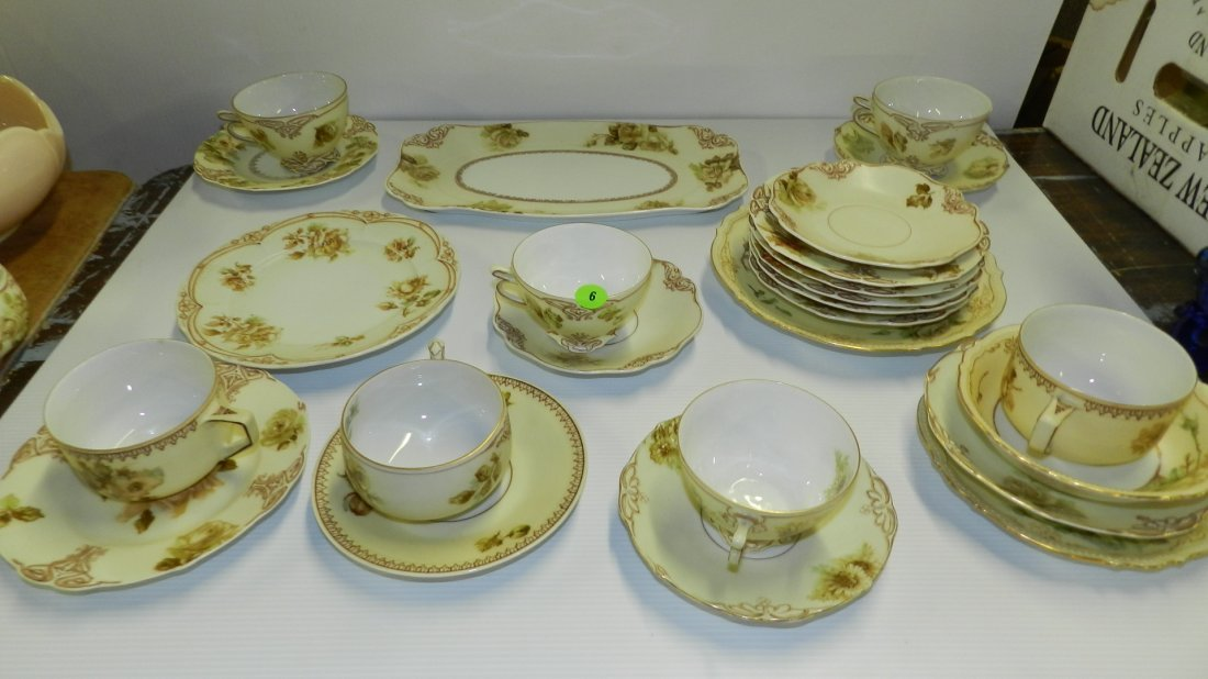 Large collection of old Ivory Silesia porcelain china w