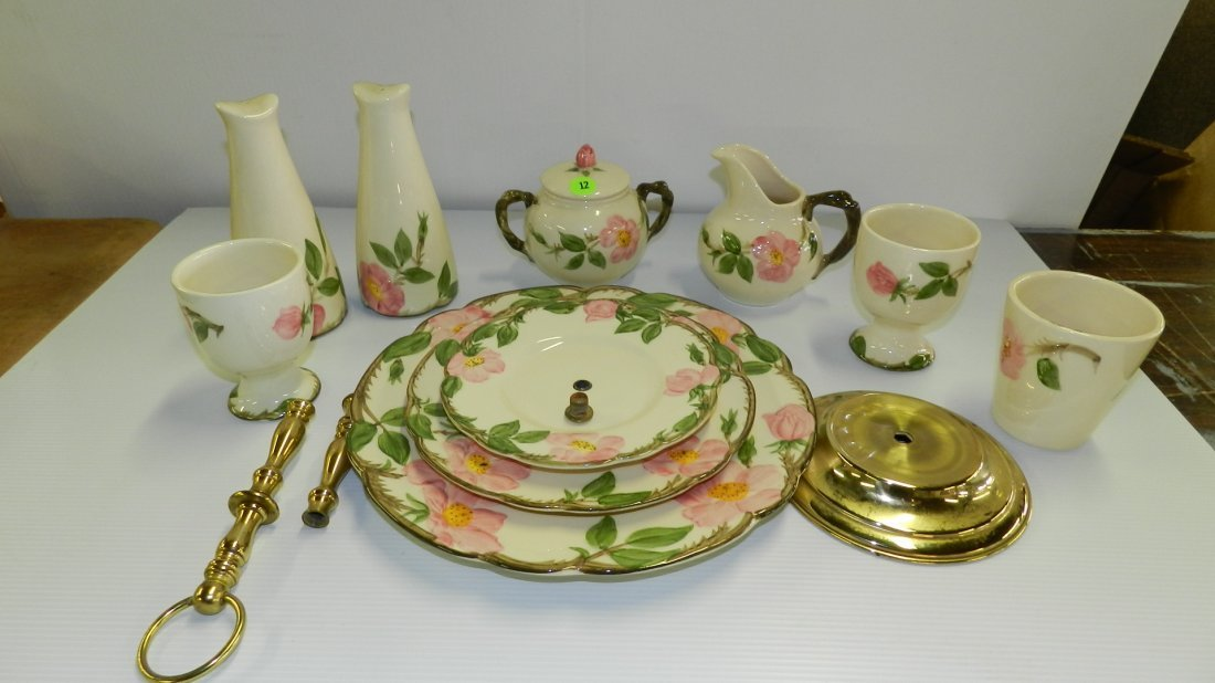 Large collection of Franciscan Desert Rose serving item